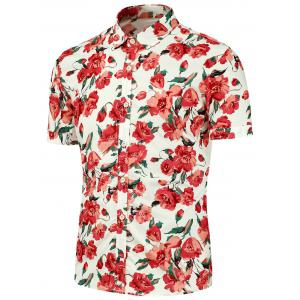 Casual Floral Printing Short Sleeves Shirt