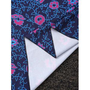 Rectangle Floral Tribal Print Beach Cover Throw - COLORMIX ONE SIZE