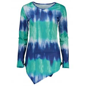 Asymmetrical Tie Dye Mini Dress