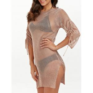 Slit Short Club Dress with Lace Up