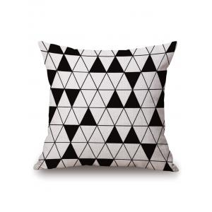 Triangle Geometric Printed Pillow Case - Off-white - 45*45cm