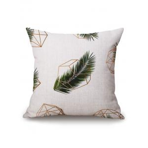 Geometric Leaf Printed Pillow Case