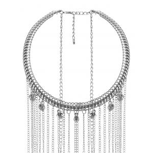 Rhinestone Fringed Full Body Armor Jewelry Chain -