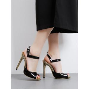 Stiletto Heel Transparent Plastic Sandals -