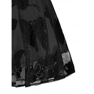 Plus Size Butterfly Jacquard A Line Short Formal Dress - BLACK AND GREY 5XL