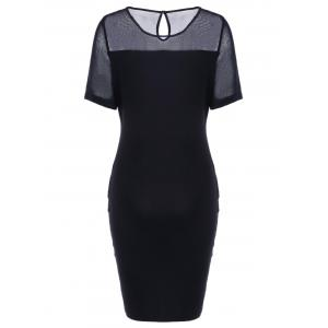Bodycon Midi Work Mesh Fitted Pencil Dress -