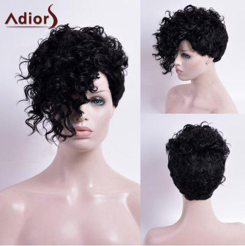 Cheap Adiors Short Capless Curly Synthetic Wig - BLACK  Mobile