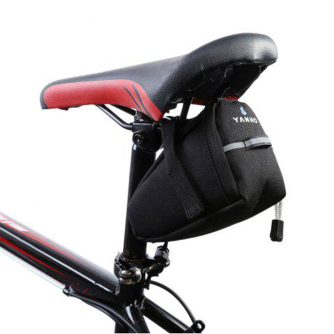 Outfit Water Resistant Bicycle Saddle Bag with Reflective Strap - BLACK  Mobile
