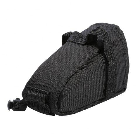 Unique Water Resistant Bicycle Saddle Bag with Reflective Strap - BLACK  Mobile