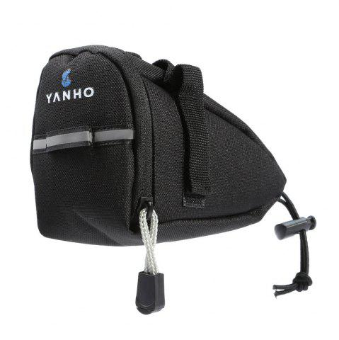 Online Water Resistant Bicycle Saddle Bag with Reflective Strap - BLACK  Mobile