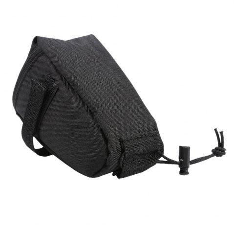 Shop Water Resistant Bicycle Saddle Bag with Reflective Strap - BLACK  Mobile