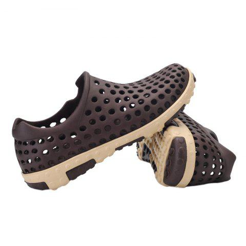 Trendy Hollow Out Antiskid Shoes - 45 BROWN Mobile