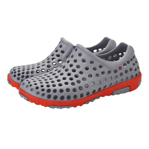 Buy Hollow Out Antiskid Shoes - 45 GRAY Mobile