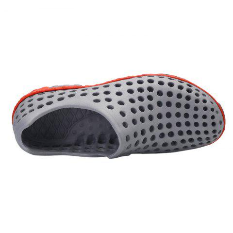 Trendy Hollow Out Antiskid Shoes - 45 GRAY Mobile