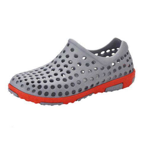 Affordable Hollow Out Antiskid Shoes - 45 GRAY Mobile