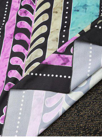 Chic Rectangle Printed Beach Cover Throw - ONE SIZE COLORMIX Mobile