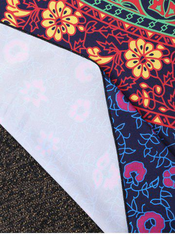 Discount Rectangle Floral Tribal Print Beach Cover Throw - ONE SIZE COLORMIX Mobile