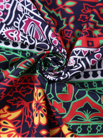 Fancy Rectangle Floral Tribal Print Beach Cover Throw - ONE SIZE COLORMIX Mobile