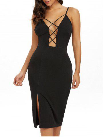 Shops Backless Slip Cut Out Midi Bodycon Dress