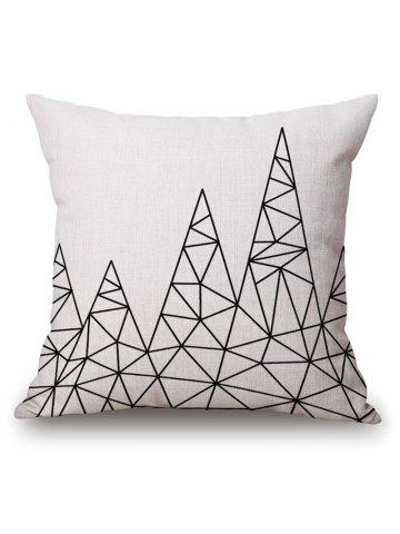 Online Geometric Printed Pillow Case - 45*45CM OFF-WHITE Mobile