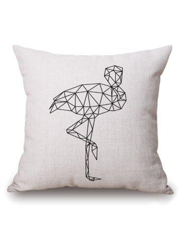 Discount Geometric Crane Printed Pillow Case - 45*45CM OFF-WHITE Mobile