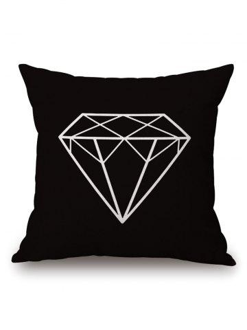 New Geometric Diamond Printed Pillow Case - 45*45CM BLACK Mobile