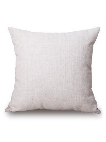 Online Geometric Leaf Printed Pillow Case - 45*45CM OFF-WHITE Mobile