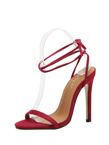 Outfit Stiletto Heel Tie Up Sandals