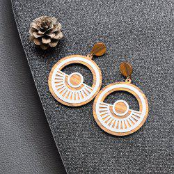 Tyre Hollow Out Wooden Drop Earrings