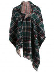 Chic Plaid Fringed Scarf For Women -