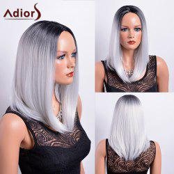 Adiors Long Gradient Middle Part Dark Root Bob Synthetic Wig