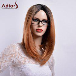 Adiors Long Straight Middle Part Gradient Dark Root Bob Synthetic Wig