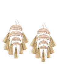 Pair of Tiered Tassel Earrings