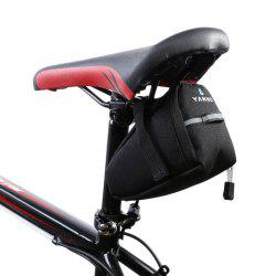 Water Resistant Bicycle Saddle Bag with Reflective Strap - BLACK