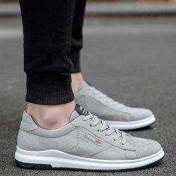 Tie Up Letter Casual Shoes - GRAY