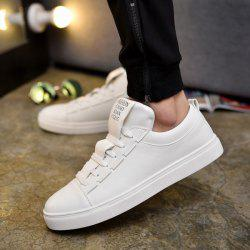 Letter Print Tie Up Casual Shoes