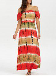 Off The Shoulder Tie Dye Maxi Dress
