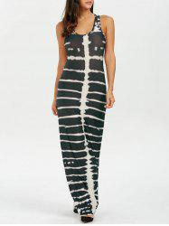 Racerback Tank Tie Dye Maxi Dress