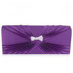 Satin Twist Pleated Clutch Evening Bag