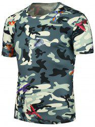 3D Fly Bird Camouflage Printed T-Shirt