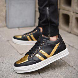 Tie Up Color Block Casual Shoes