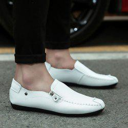 Faux Leather Zipper Casual Shoes