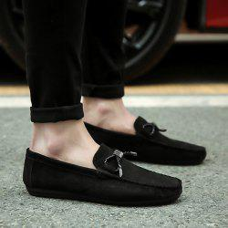 Metal Embellishment Suede Casual Shoes