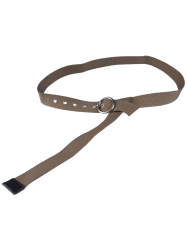 Round Pin Buckle Design Casual Long Canvas Belt