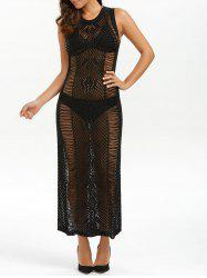 See Through Sheer Maxi Jumper Beach Dress