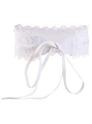 Knotted Elastic Lace High Waist Belt