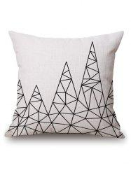 Geometric Printed Pillow Case - OFF-WHITE