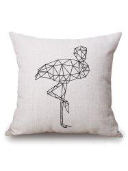 Geometric Crane Printed Pillow Case