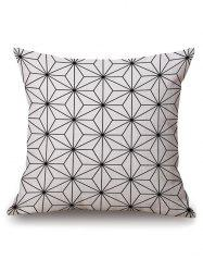 Geometric Hexagram Printed Pillow Case