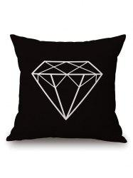 Geometric Diamond Printed Pillow Case